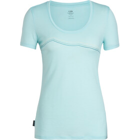 Icebreaker Tech Lite Rangitoto Triple SS Scoop Shirt Women aqua splash